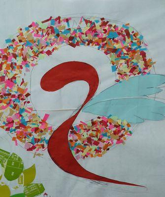 高中班旗班徽设计图树展示