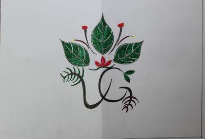 班旗图案的设计图
